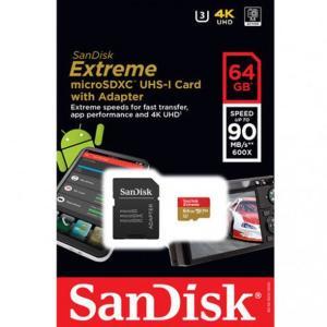【新品】 64GB SANDISK サンディスク microSDXC Extremeシリーズ [SDSQXVF-064G-GN6MA]