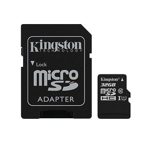 Kingston 32GB MicroSD [SDC10G2/32GB] SDアダプタ付き 永久保証