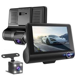 JOYSTECH ドライブレコーダー [JDRR01] 車内外同時録画 リアカメラ付き 4.0インチ画面 FullHD 170°広視野角 G-sensor WDR搭載 駐車監視 常時録画|geno