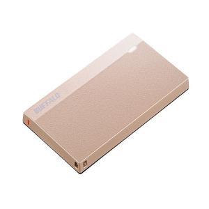 Buffalo 120GB 外付けSSD USB 3.2(Gen 1)対応 超小型ポータブルSSD スモーキーピンク [SSD-PSM120U3-SP] geno