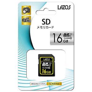 リーダーメディアテクノ Lazos 16GB SDHCカード [L-16SD10-U1] CLASS10|geno