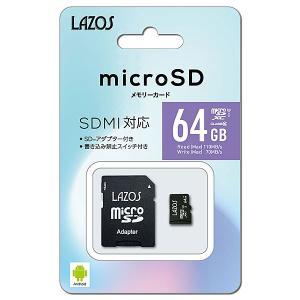 リーダーメディアテクノ Lazos 64GB microSDXCカード [L-64MSD10-U3] (UHS-I U3/ CLASS10)|geno