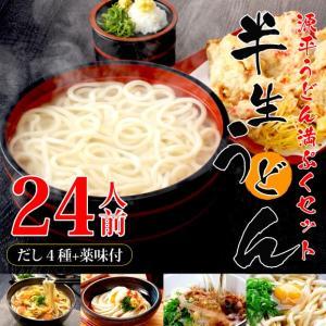 【大容量】源平うどん満ぷくセット 本場讃岐半生うどん約24人前+ダシ4種+薬味付き genpei-udon