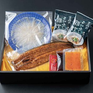 とらふぐと鰻の贅沢セット(ふぐ刺し・ふぐ雑炊入)