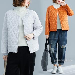 40代 50代 60代 ファッション 冬服 キルティングジャケット 中綿ブルゾン ジャケット 薄手 ...