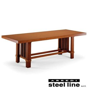 フランク・ロイド・ライト タリアセンテーブル スティールライン社DESIGN900 (steelline)|genufine-store