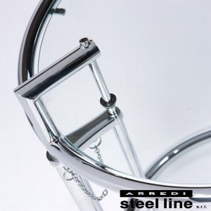 アイリーン・グレイ E1027 アジャスタブルテーブル スティールライン社DESIGN900 (steelline)|genufine-store