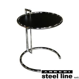 アイリーン・グレイ E1027 アジャスタブルテーブル(ブラックメタル天板仕様) スティールライン社DESIGN900 (steelline)|genufine-store