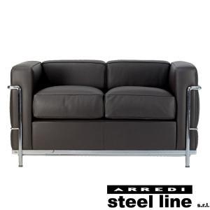 ル・コルビジェ LC2 2P(プレミアム仕様) スティールライン社DESIGN900 (steel line) genufine-store