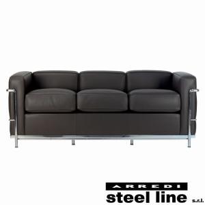 ル・コルビジェ LC2 3P(プレミアム仕様) スティールライン社DESIGN900 (steel line)|genufine-store