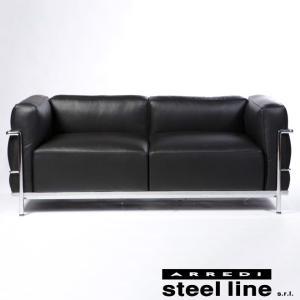 ル・コルビジェ LC3 2P 羽毛特別仕様 スティールライン社DESIGN900 (steel line) genufine-store