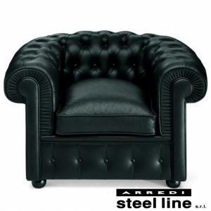 チェスターフィールドソファ1P スティールライン社DESIGN900 (steelline)|genufine-store