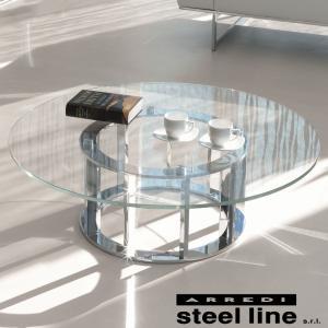 LIFE CLASSシリーズ NAXOS ガラスセンターテーブル スティールライン社 (steelline)|genufine-store