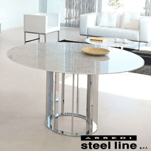 LIFE CLASSシリーズ ASOLO大理石ダイニングテーブル(φ140) スティールライン社 (steelline)|genufine-store