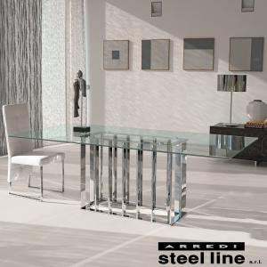 LIFE CLASSシリーズ PLACE VENDOMEガラスダイニングテーブル スティールライン社 (steelline)|genufine-store