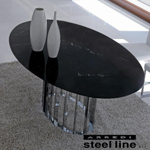 LIFE CLASSシリーズ EMBASSY大理石ダイニングテーブル スティールライン社 (steelline)|genufine-store