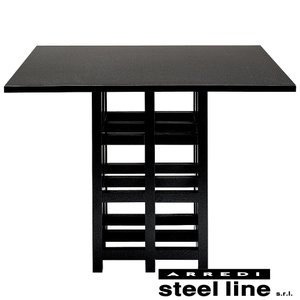 C.R.マッキントッシュ D.S.2ダイニングテーブル スティールライン社DESIGN900 (steelline)|genufine-store