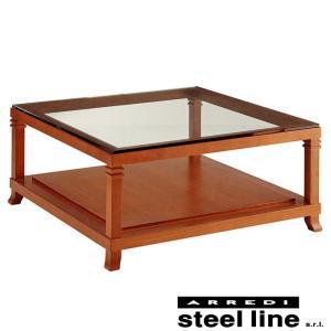 フランク・ロイド・ライト ロビーガラスセンターテーブル スティールライン社DESIGN900 (steel line)|genufine-store