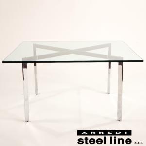 ミース・ファン・デル・ローエ バルセロナテーブル スティールライン社DESIGN900 (steelline)|genufine-store