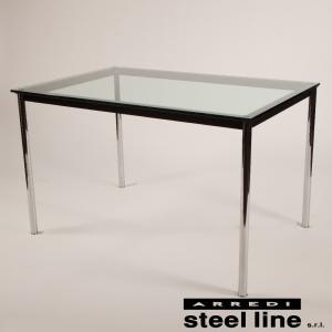 ル・コルビジェ LC10 120×80×72 スティールライン社DESIGN900 (steel line)|genufine-store