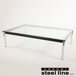 ル・コルビジェ LC10 140×140×33 スティールライン社DESIGN900 (steel line)|genufine-store