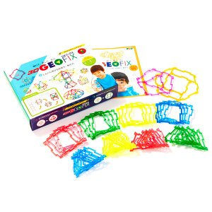 知育玩具 おもちゃ 教材 4歳 5歳 6歳 小学生 男の子 女の子 誕生日 プレゼント 図形 算数 ジオフィクス ジュニアセット クリスタル geoland 02