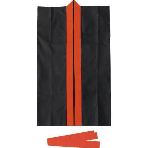 ロングハッピ不織布 黒(赤襟)S(ハチマキ付)...の関連商品4