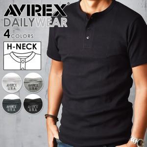ポイント還元セール AVIREX アビレックス アヴィレックス デイリー ヘンリーネック 半袖Tシャツ メンズ 6143504_618364|geostyle