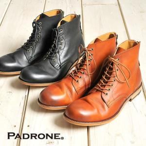 【期間限定】ポイント11倍 パドローネ PADRONE バックジップ レースアップブーツ PU8054-1102-12A LACE UP BOOTS with BACK ZIP / ANTONIO2  革 メンズ 靴|geostyle