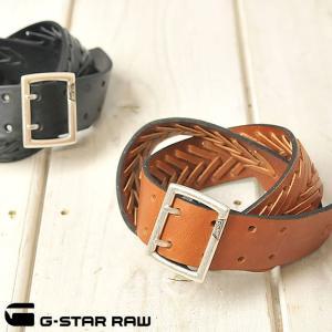 SALEセール15%OFF ジースターロウ G-STAR RAW メンズ ダブルピン レザーベルト OWEN BELT89205C-5702 geostyle