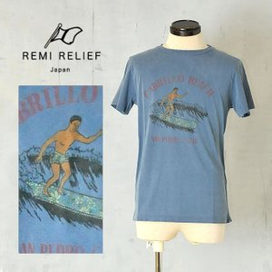 REMI RELIEF レミレリーフ 2MANスペシャル加工Tシャツ(CABRILLO BEACH) RN14149154 日本製 メンズ ユーズド加工|geostyle