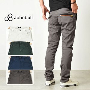 残りわずか!セール50%OFF ジョンブル JOHNBULL ストレッチカラーパンツ 11929 メンズ スリム ジップポケット|geostyle