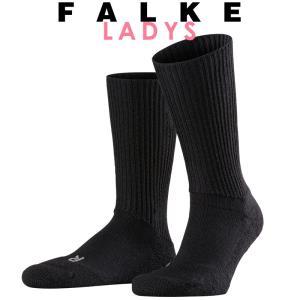 正規取扱店 FALKE ファルケ WALKIE ウォーキー レディース ソックス 靴下 厚手 ウール あたたか 冷えとり靴下 暖かい ブラック #16480|geostyle