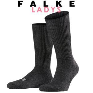 正規取扱店 FALKE ファルケ WALKIE ウォーキー レディース ソックス 靴下 厚手 ウール あたたか 冷えとり靴下 暖かい ライトブラック #16480|geostyle