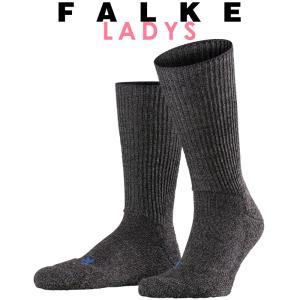 正規取扱店 FALKE ファルケ WALKIE ウォーキー レディース ソックス 靴下 厚手 ウール あたたか 冷えとり靴下 暖かい チャコール #16480|geostyle