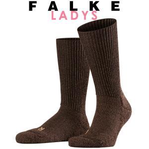 正規取扱店 FALKE ファルケ WALKIE ウォーキー レディース ソックス 靴下 厚手 ウール あたたか 冷えとり靴下 暖かい ダークブラウン #16480|geostyle