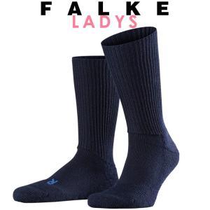 正規取扱店 FALKE ファルケ WALKIE ウォーキー レディース ソックス 靴下 厚手 ウール あたたか 冷えとり靴下 暖かい ネイビー #16480|geostyle
