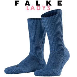 正規取扱店 FALKE ファルケ WALKIE ウォーキー レディース ソックス 靴下 厚手 ウール あたたか 冷えとり靴下 暖かい ライトデニム #16480|geostyle