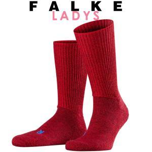正規取扱店 FALKE ファルケ WALKIE ウォーキー レディース ソックス 靴下 厚手 ウール あたたか 冷えとり靴下 暖かい スカーレット #16480|geostyle