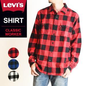 新作 SALEセール40%OFF LEVI'S リーバイス フランネル 長袖 チェックシャツ メンズ ウエスタンシャツ ネルシャツ 19587|geostyle