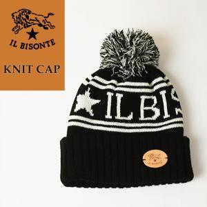 イルビゾンテ IL BISONTE ロゴ ニット帽 ボンボン付き ニットキャップ/ニット帽 54182309483 レディース メンズ プレゼント 秋冬|geostyle