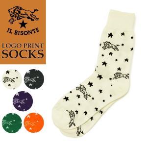 イルビゾンテ ILBISONTE ロゴプリント ソックス 靴下 レディース プレゼント ギフト 54182309680|geostyle