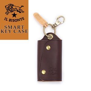 (キーケース人気第2位) 正規取扱店 送料無料(ゆうパケット) イルビゾンテ IL BISONTE キーレス対応レザーキーケース 5432404150 メンズ レディース|geostyle