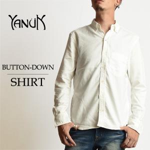 SALEセール10%OFF YANUK ヤヌーク メンズ ボタンダウン 長袖白シャツ 57263019 オックスフォードシャツ カジュアル|geostyle