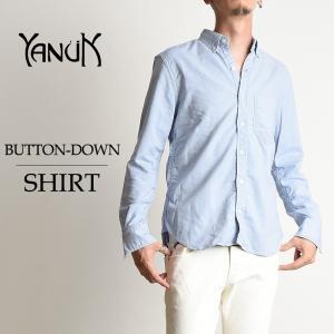 YANUK ヤヌーク メンズ ボタンダウン 長袖シャツ 57263028 オックスフォードシャツ シャンブレーシャツ|geostyle