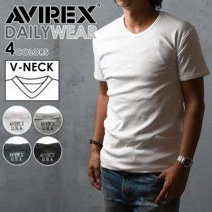 【ポイント還元セール】AVIREX アビレックス アヴィレックス デイリー Vネック 半袖Tシャツ メンズ カットソー 6143501_617351|geostyle