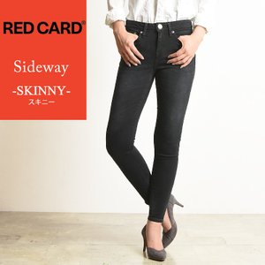 RED CARD レッドカード Sideway サイドウェイ スキニー ブラック デニムパンツ レディース 66496|geostyle