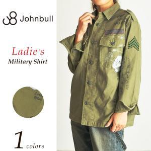ジョンブル Johnbull *ミリタリー シャツ ジャケット レディース AS858|geostyle