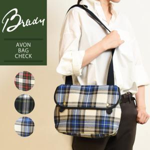 ラッピング無料 ブレディ BRADY エイボン AVON タータンチェック ショルダーバッグ レディース メンズ 軽量 キャンバス 布 ウール 大きめ 赤 緑 鞄 かばん|geostyle