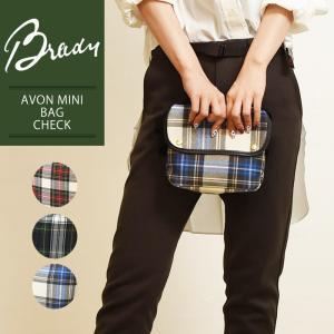 ラッピング無料 ブレディ BRADY エイボンミニ AVON MINI タータンチェック ショルダーバッグ レディース メンズ 軽量 キャンバス ウール 大きめ 鞄 かばん|geostyle